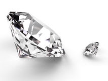 Big and small diamond Stock Images