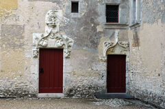 For big and small. Doors in a castle in different sizes Royalty Free Stock Images