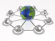 Big and small globes Stock Image