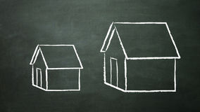 Big and small house Stock Photo