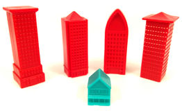 Big and small houses Royalty Free Stock Photos
