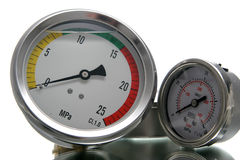 Big and small manometer Royalty Free Stock Photos