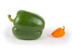 Big and Small Peppers Stock Photos