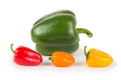 Big and Small Peppers Royalty Free Stock Image