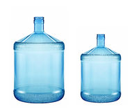 Big and small plastic gallon containers Royalty Free Stock Photography