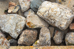 Big small rocks texture Stock Image