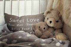 Big and Small Teddy Bears stock images