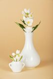 Big and small vase with jasmine Stock Images