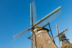 Big and small windmill, Holland Royalty Free Stock Images