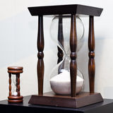 Big and small wooden sand clock Royalty Free Stock Photography