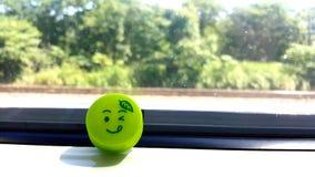 Big smile of the day. Hakodate line Hokkaido Japan royalty free stock image