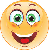 Big smile emoticon Stock Image