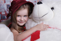 Big smile holding Teddy bear. Royalty Free Stock Image