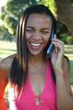 Big Smile Phone Call Stock Photos