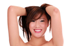 Big smile portrait young teen asian girl Royalty Free Stock Photography