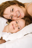 Big smiles in the morning Stock Photo