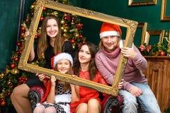 Big smiling family celebrate x-mas Royalty Free Stock Photography