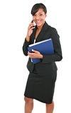 Big Smiling Young Businesswoman on Cellphone Royalty Free Stock Photos