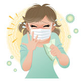 Big sneeze! stock illustration