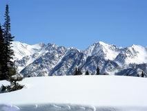 Big Snow. Deep snow pack after a winter storm high in the Rocky Mountains stock photos