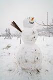 Big snow man Stock Photos