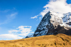 A Big snow mount and Blue sky Stock Photography
