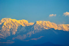 Big snow mountains in Pokhara,Nepal Stock Photo