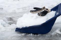 Big snow shovel Stock Image
