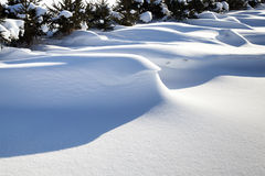 Big snowdrifts Stock Photography