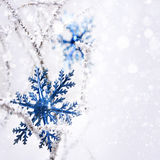 Big snowflake. Royalty Free Stock Photo