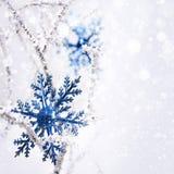 Big snowflake. New Year Royalty Free Stock Photo