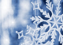 Big snowflake blue toned Royalty Free Stock Images