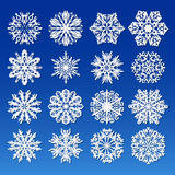 Big Snowflakes set for winter and christmas theme Royalty Free Stock Images