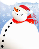 Big snowman Royalty Free Stock Image