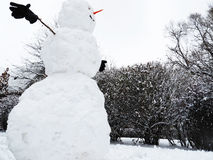 Big snowman. Royalty Free Stock Photo