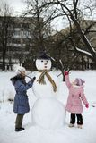 Big snowman Royalty Free Stock Images