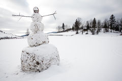 A big snowman Royalty Free Stock Images
