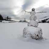 A big snowman Stock Photography