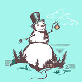 Big snowman Stock Images