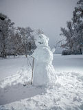 Big snowman at winter park Stock Photos