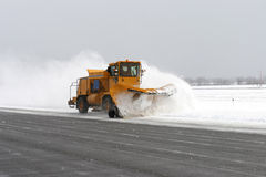Big snowplow Royalty Free Stock Photo