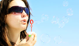 Big soap bubble Royalty Free Stock Photography