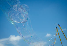 Big Soap bubble Stock Photo