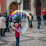 Big soap bubble Stock Image
