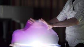 Big soap bubble. Slow motion stock video footage