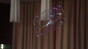 Big soap bubble. Slow motion stock video