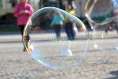 Big soap bubbles Royalty Free Stock Image