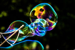 Big soap bubbles Royalty Free Stock Images