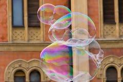 Big soap bubbles Stock Photos