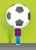 Big soccer head Stock Image